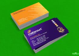 Maltacourt, kétoldalas fóliázott névjegykártya