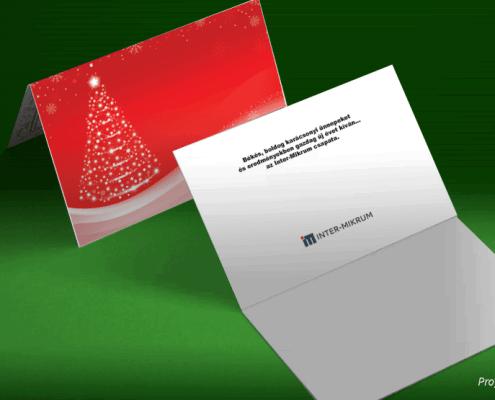 Karácsonyi üdvözlőlap Mikrum