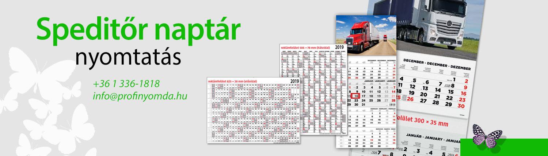 Speditőr naptár, speditőrnaptárak nagy választékban