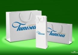 Zsinórfüles papírtáska - Tunisia - 2019, papírtáska rendelés
